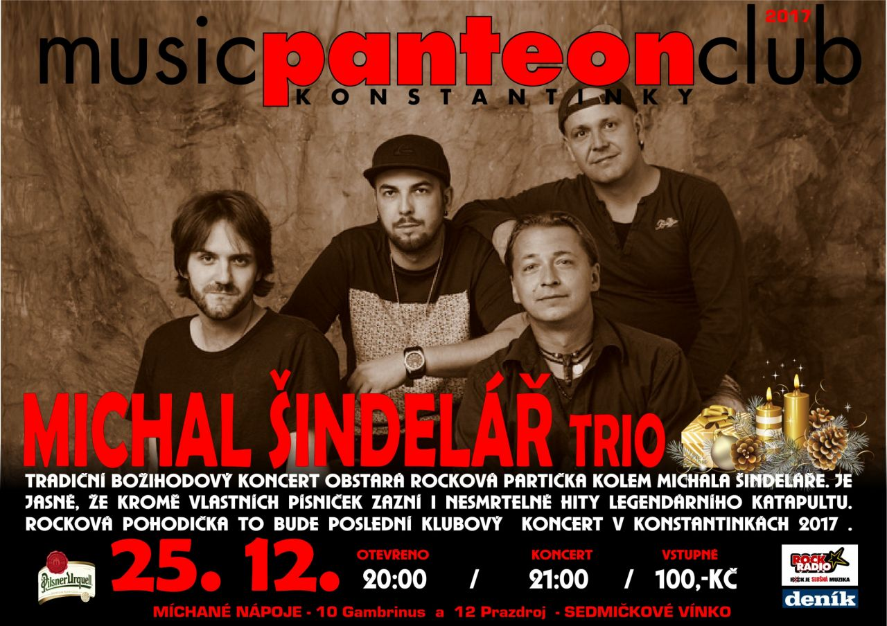 Michal Šindelář trio v MC Panteon 1